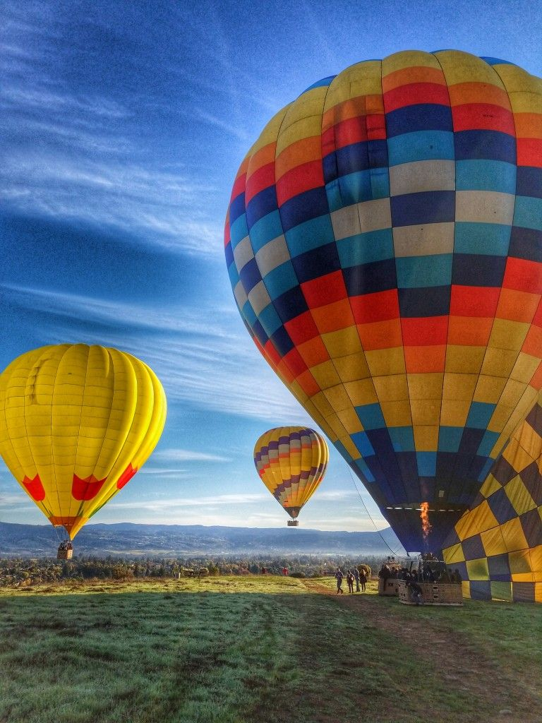 Up Up and Away Hot Air Balloons Over Napa Valley (With