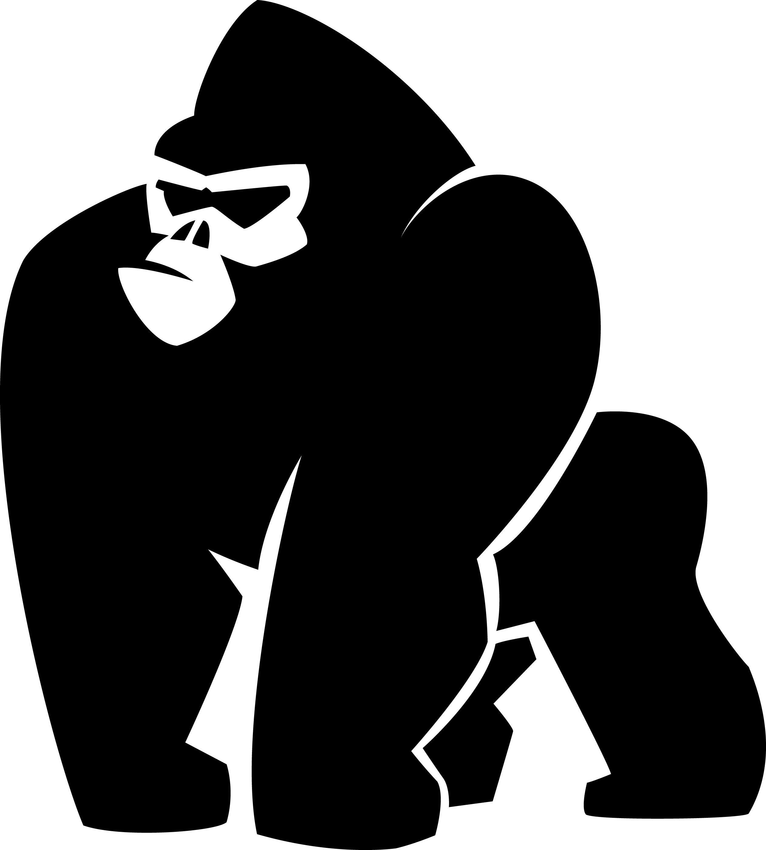 gorilla jpg 2523 2800 tattoos pinterest tattoo and body art rh pinterest com Cartoon Gorilla Cartoon Gorilla