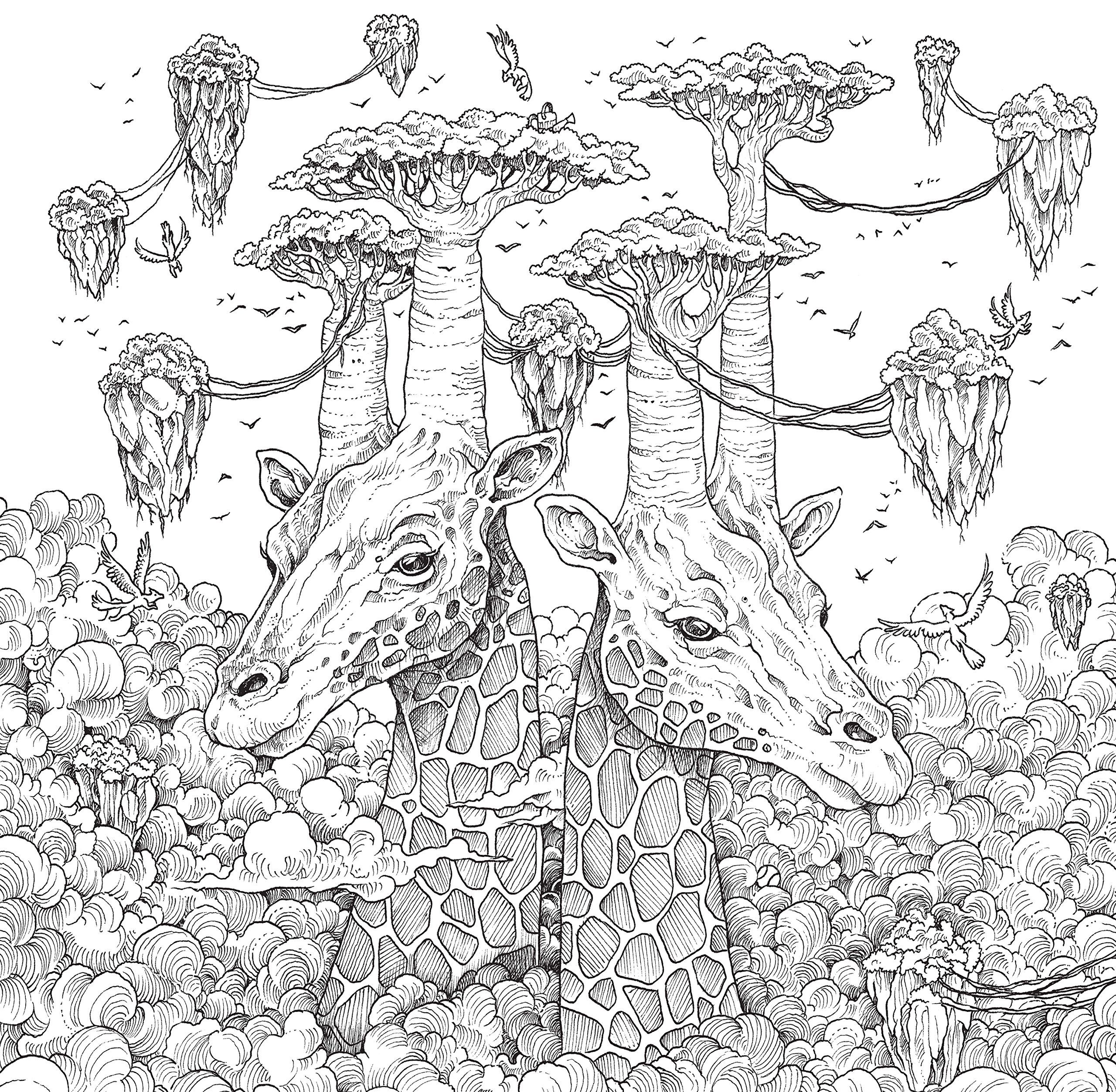 Geomorphia Animorphia Coloring Book Angel Coloring Pages Detailed Coloring Pages