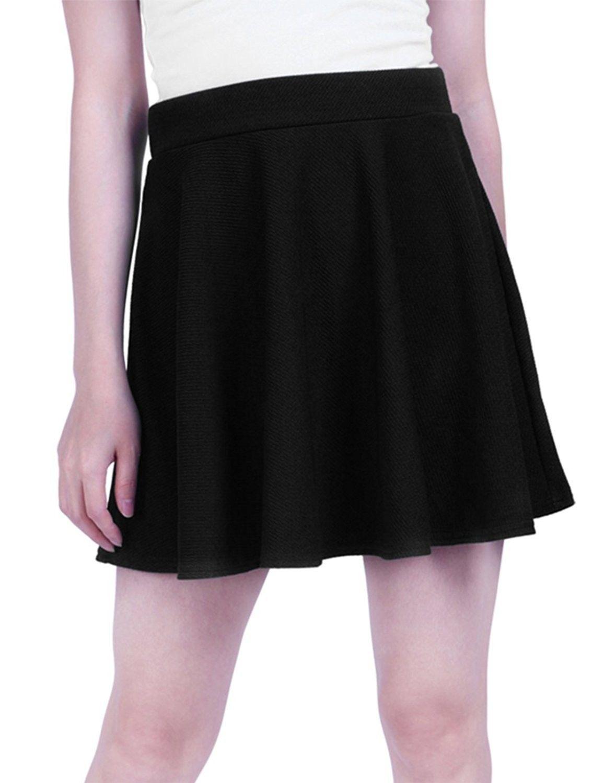 b63c1b7cb Women's Clothing, Skirts,Women's Skater Skirt Pleated Flared A Line Circle Stretch  Waist Skater Skirt - Black - CY11UH0WSDH #Fashion #Skirts #women #style #  ...