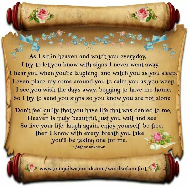 A Letter From My Brother And My Mother Who Went To Heaven I Know