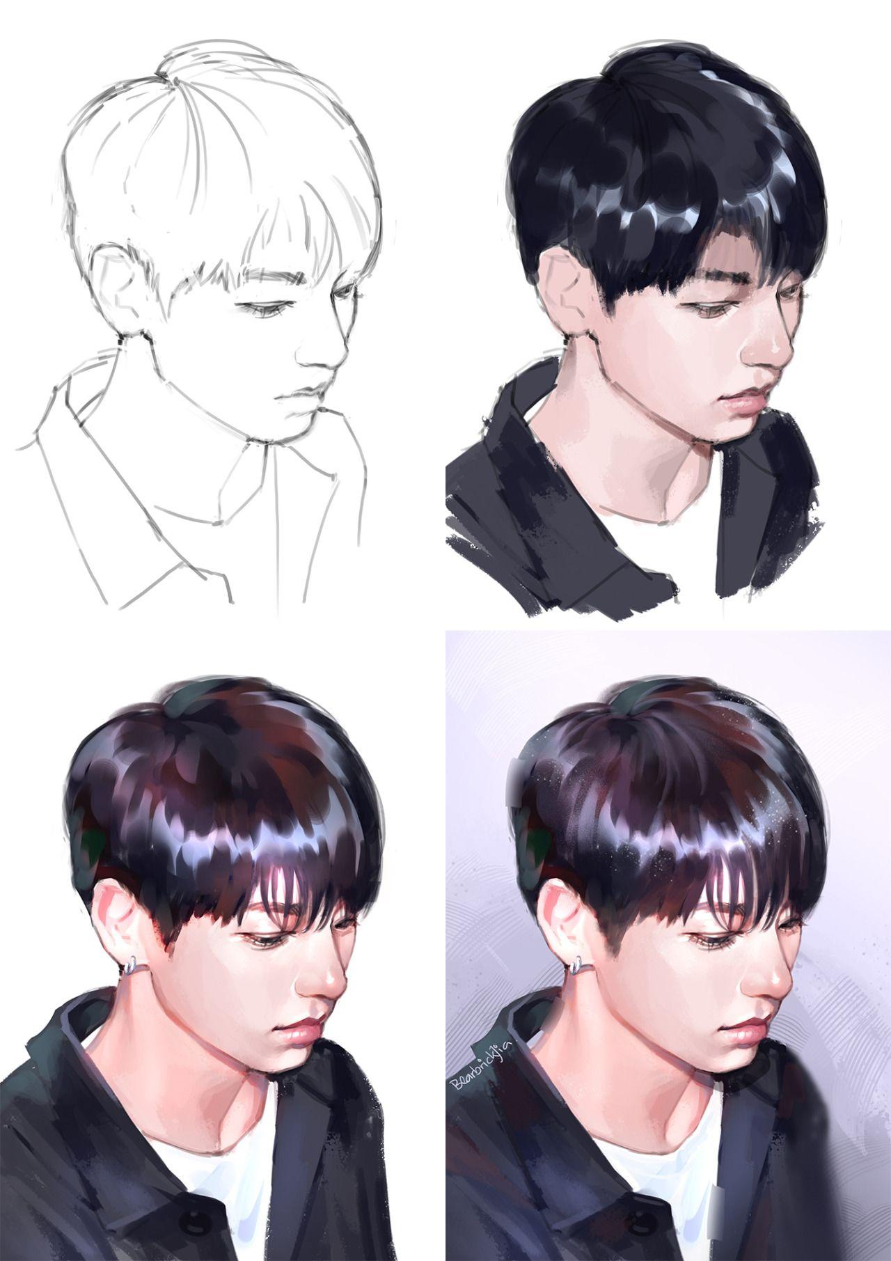 BTS Jungkook Process Fanart Kpop Fanart Pinterest