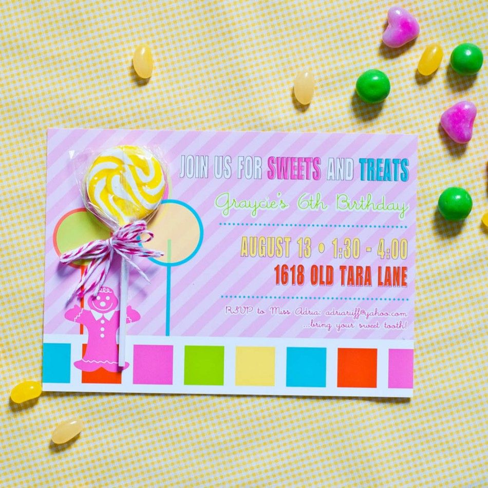 Candy Land Inspired Birthday Party Printable Invitation-$18 | Candy ...