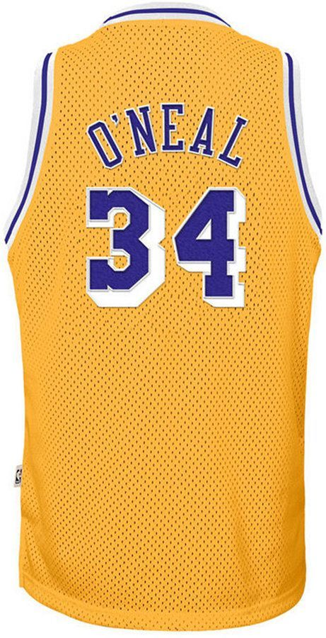 Adidas Shaquille O Neal Los Angeles Lakers Retired Player Swingman Jersey Big Boys 8 20 Shaquille O Neal Los Angeles Lakers Leggings Are Not Pants