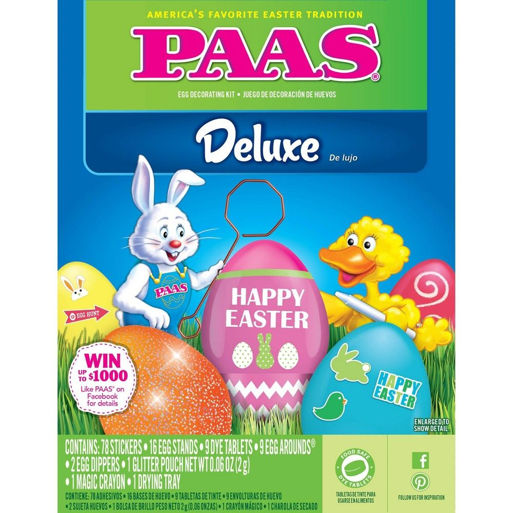 PAAS Easter Deluxe Egg Decorating Kit, in 2019 | Products ...