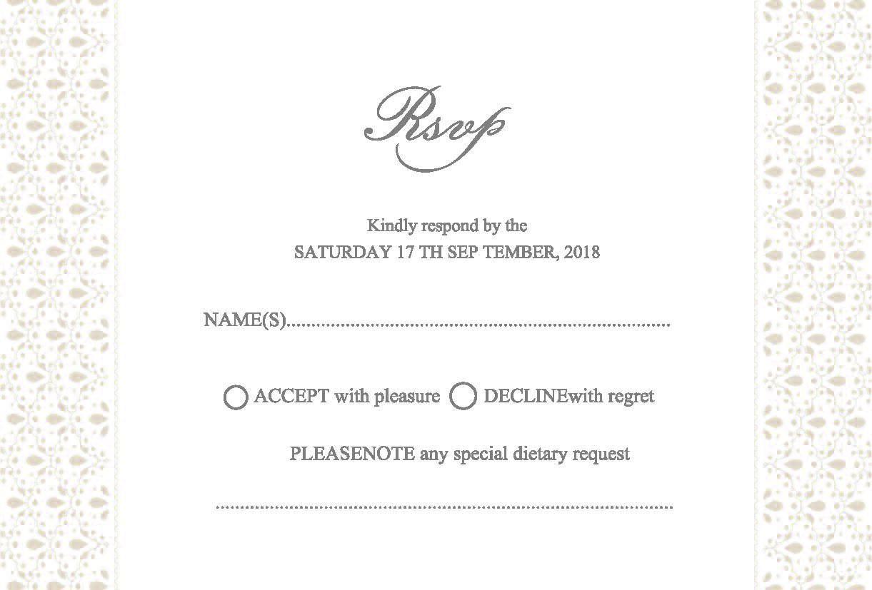 wedding invitation : wedding invitations with response cards - Free ...