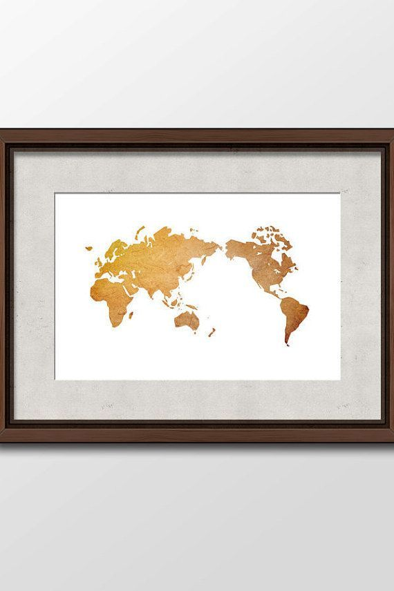 Large Wall Art Digital Download Printable of Antique World Map