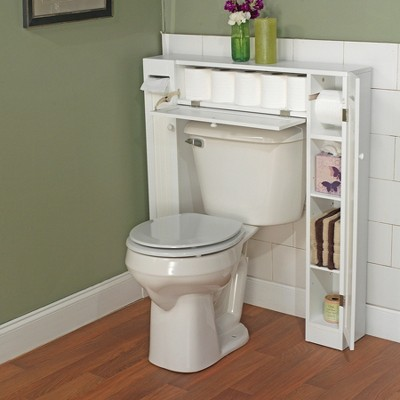 Smart Space Over Toilet Etagere White Tms Bathroom Space Saver