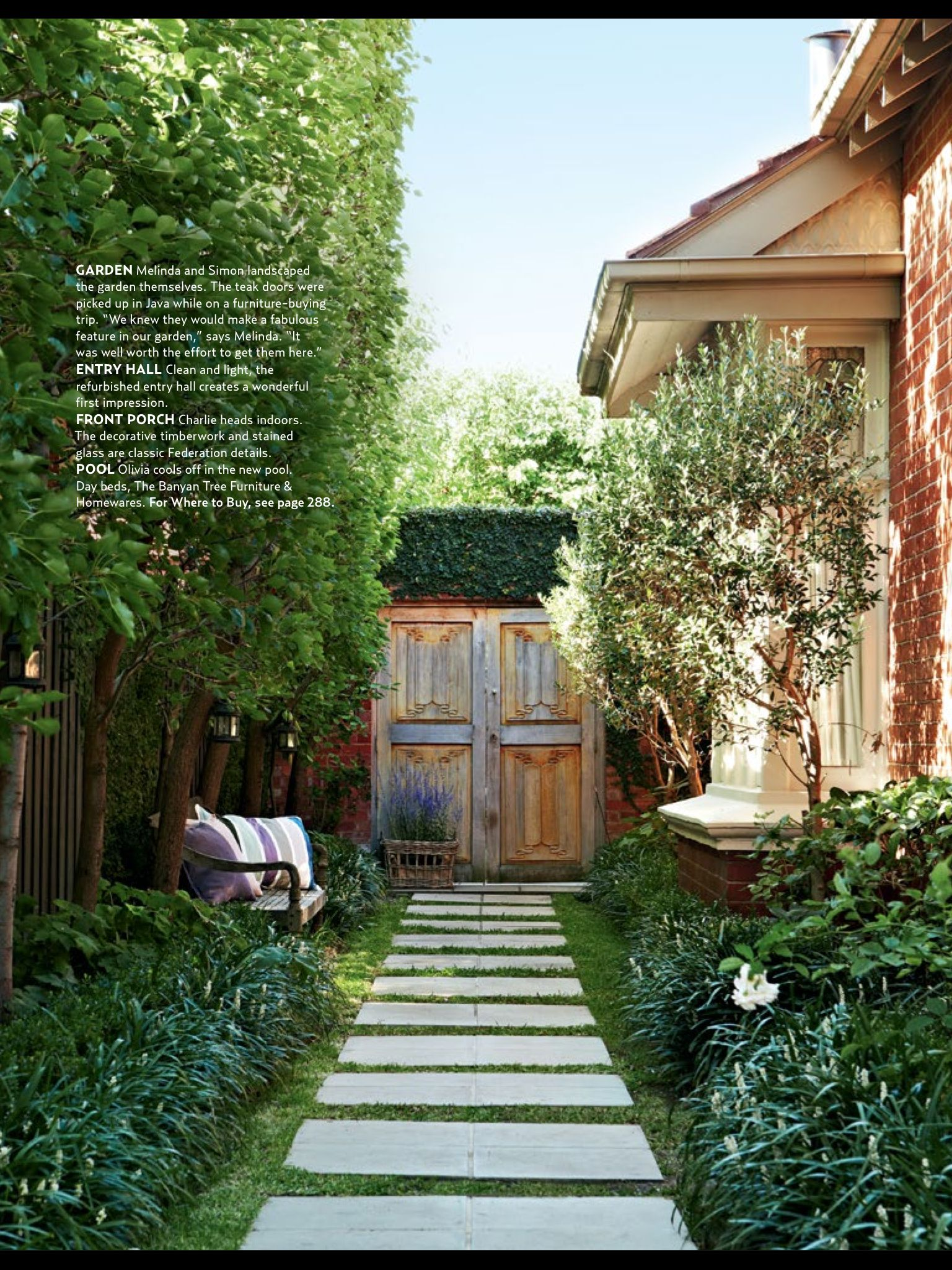 Balance between elegant and family friendly garden oasis