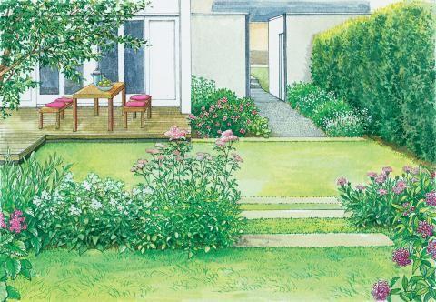 Ein Doppelhaus-Garten im neuen Gewand Pinterest - reihenhausgarten vorher nachher
