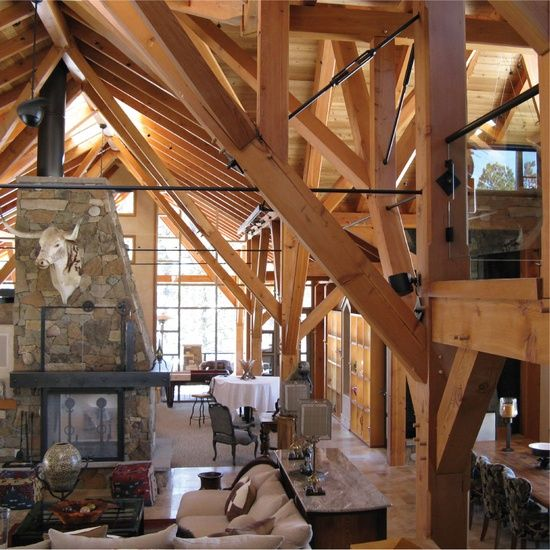 Living Room Design At The Log Cabin Via The Interior Architect