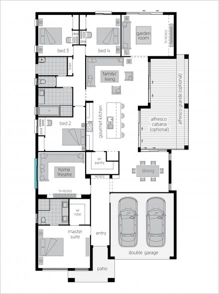 Garden Retreat One Floor Plan By Mcdonald Jones Floor Plans How To Plan Mcdonald Jones Homes