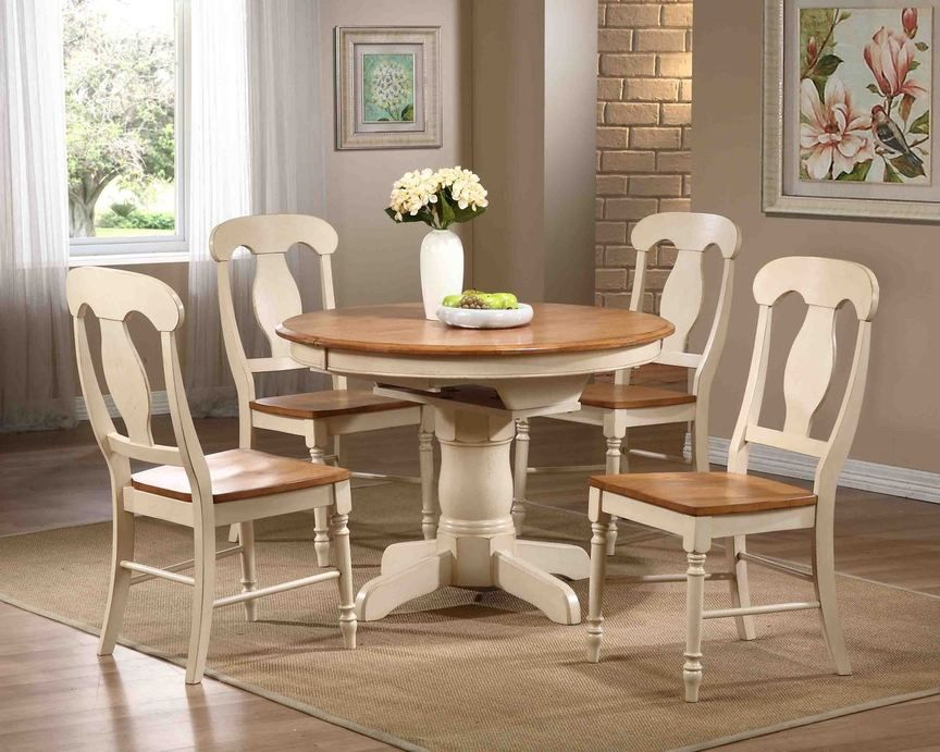 Caramel And Biscotti 42 X 42 60 X 30 5 Piece Solid Wood Dining Table Solid Wood Dining Set Round Dining Room