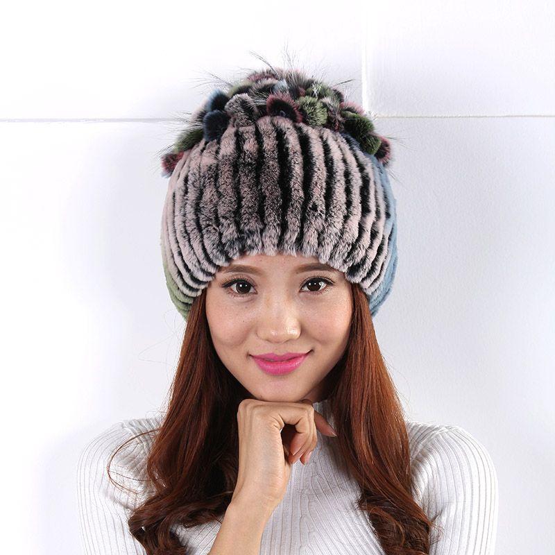 b663ea9524e Women Korean hat wool hat version of the simple woolen caps headgear Plush  balls cute Cozy