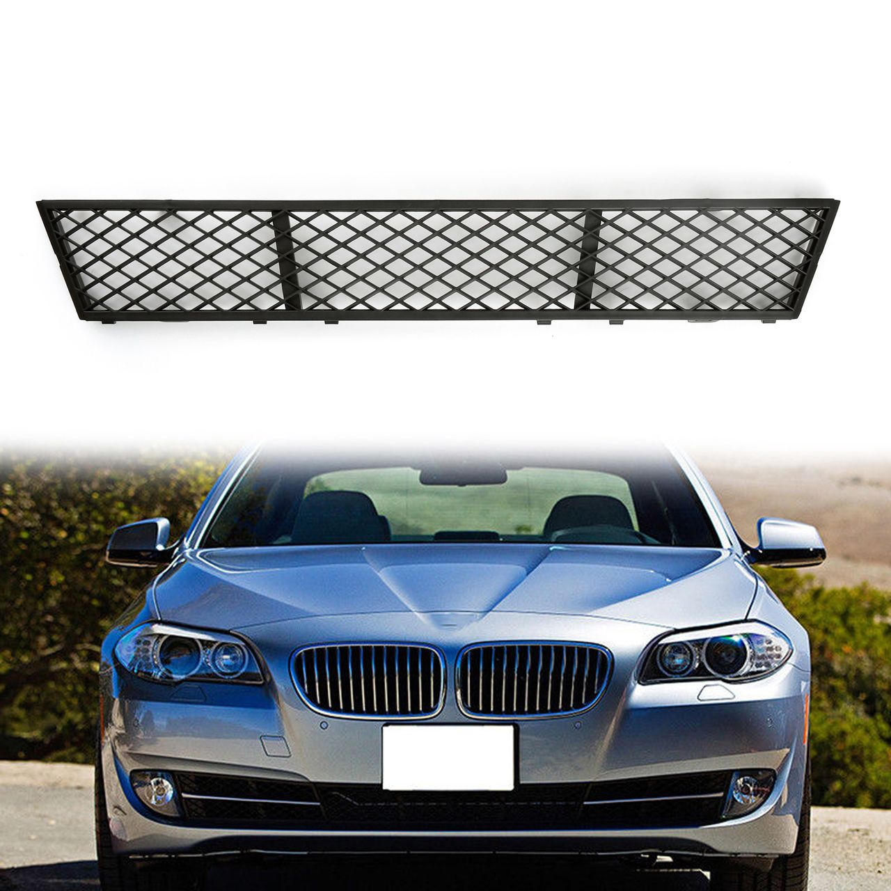 Mad Hornets Front Bumper Center Lower Grille Assembly Bmw F10 5 Series Sedan 4 Door 51117285950 20 99 Http Www Madhornets Com Front Bu Bmw Sedan Grilles