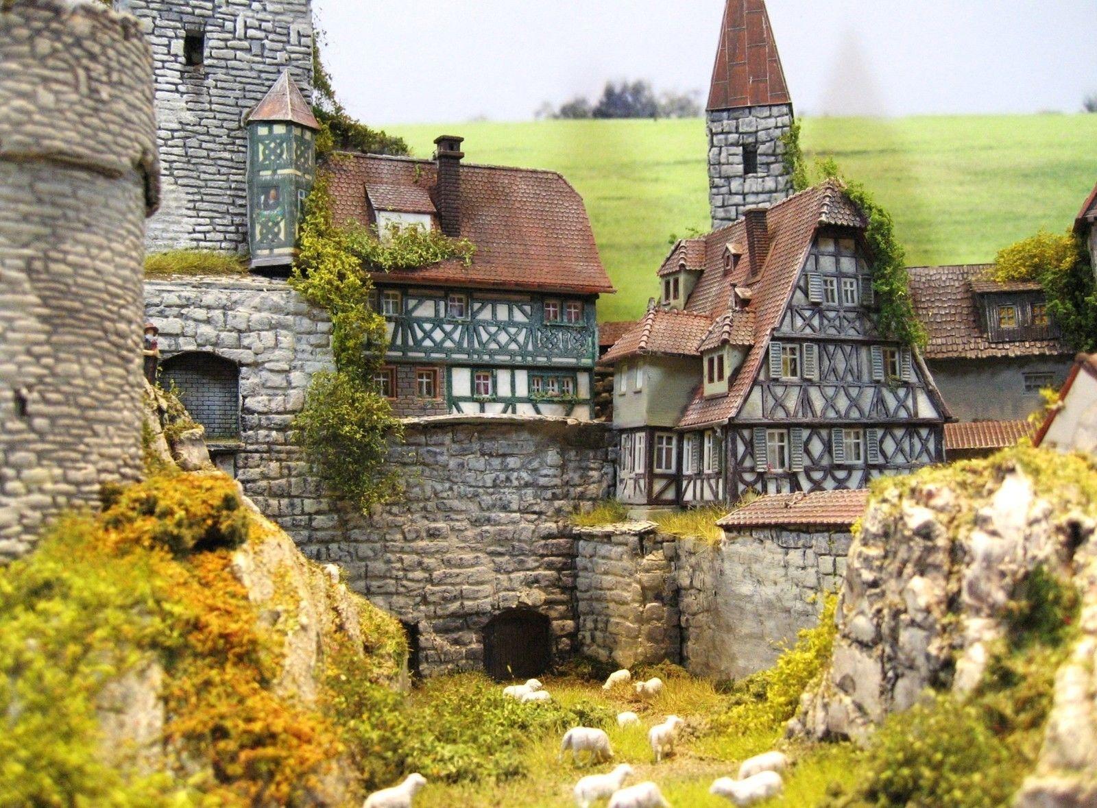 Burg Festung Diorama Burg Marienstein Architekturmodell Burg Bauen Festung
