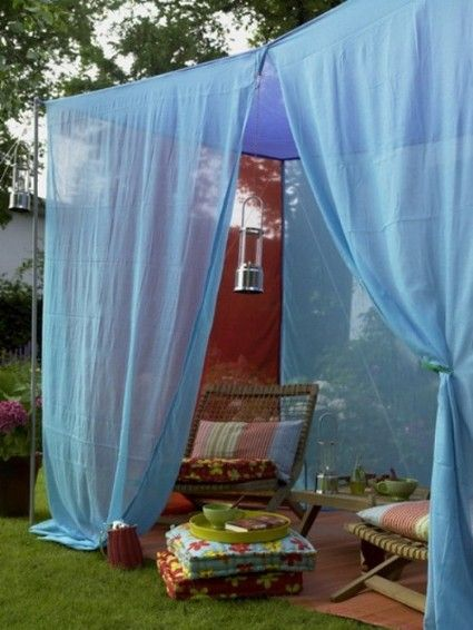 Decoración Con Telas En Jardines Y Terrazas Fabric Decor