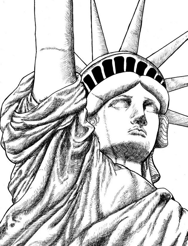 Statue Of Liberty Statue Of Liberty Drawing New York Statue