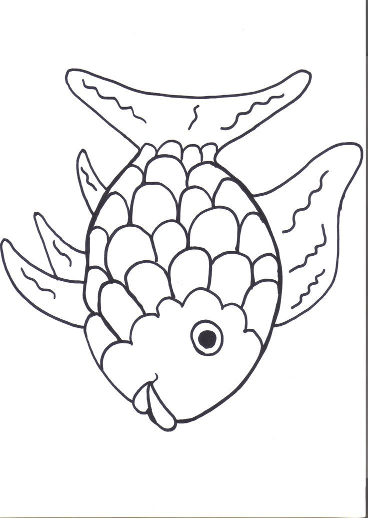 Rainbow fish printables august preschool themes child for Printable fish coloring pages