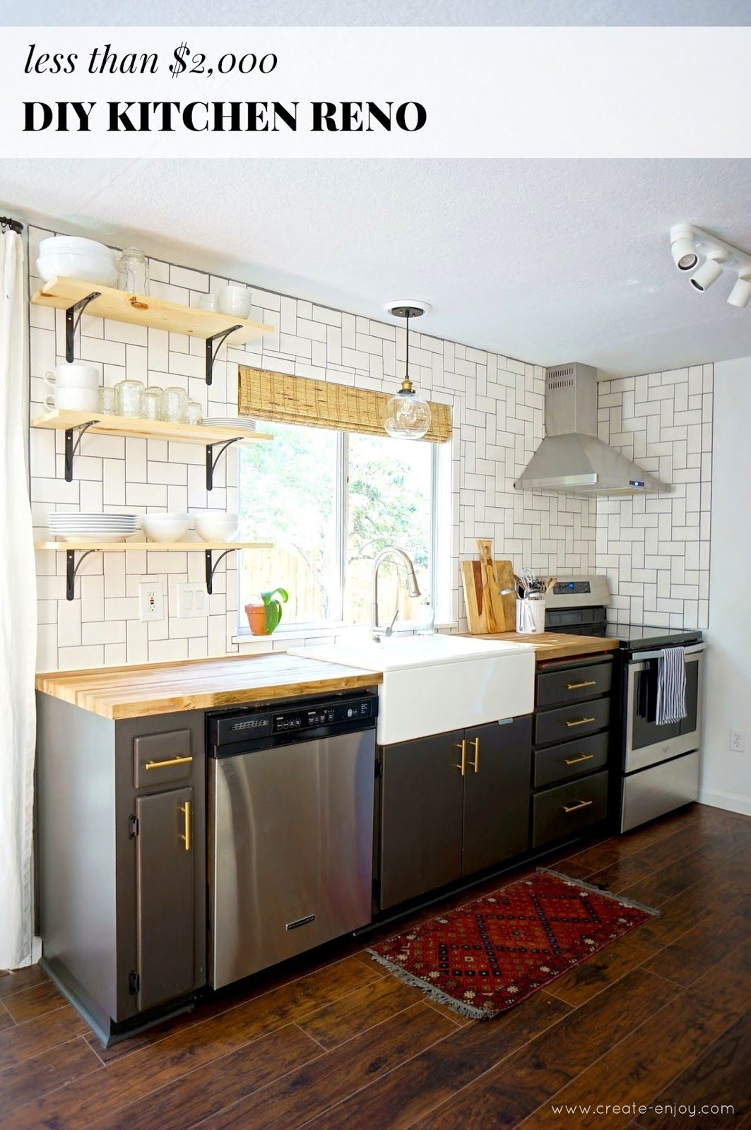 Budget Kitchen Reno Before After Cost And Diys Galley Kitchen