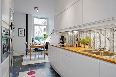 Cole & Son, New Contemporary Two, Woods, Wallpaper in kitchen