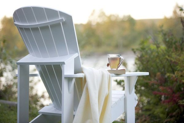 Adirondack Chair Cup Of Tea A Good Book And A View Perfect