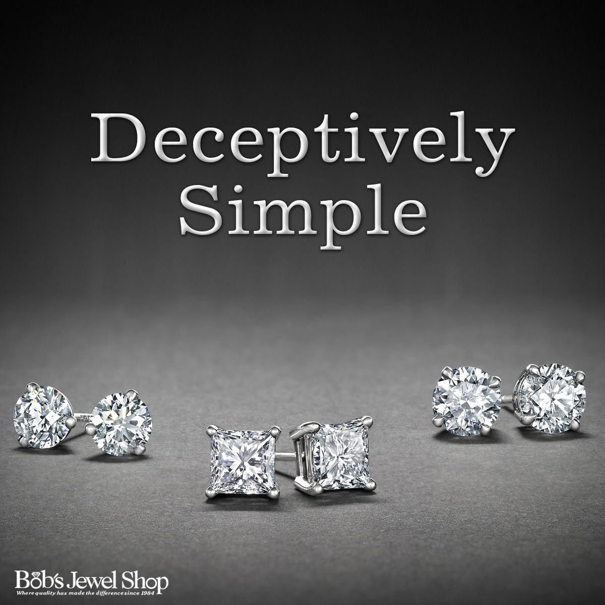 """Simple, elegant, classic.  A diamond stud goes with every outfit!  Do you agree?  """"Share"""" if you'd like a pair!  #Diamonds #DiamondStuds #Classic"""