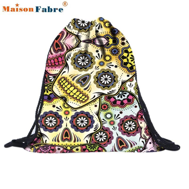 4a7c5677a7 New Fashion 2016 new Women Emoji Backpack 3D printing travel softback women  mochila drawstring bag mens