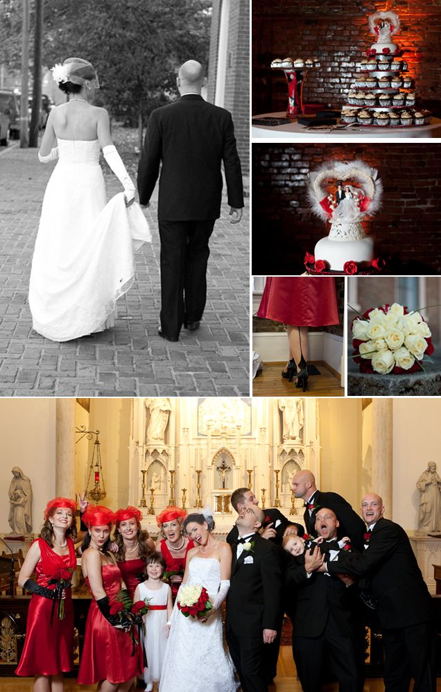 Neat 40s Inspired Wedding And It S Red Ideas