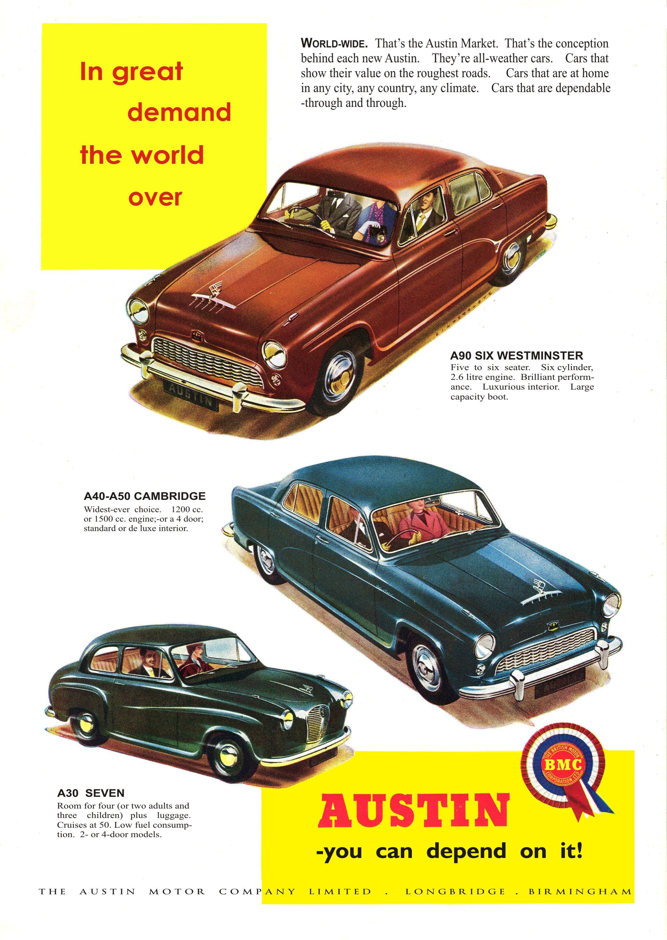 Car Advert Austin Range | Vintage Auto Advertising | Pinterest ...