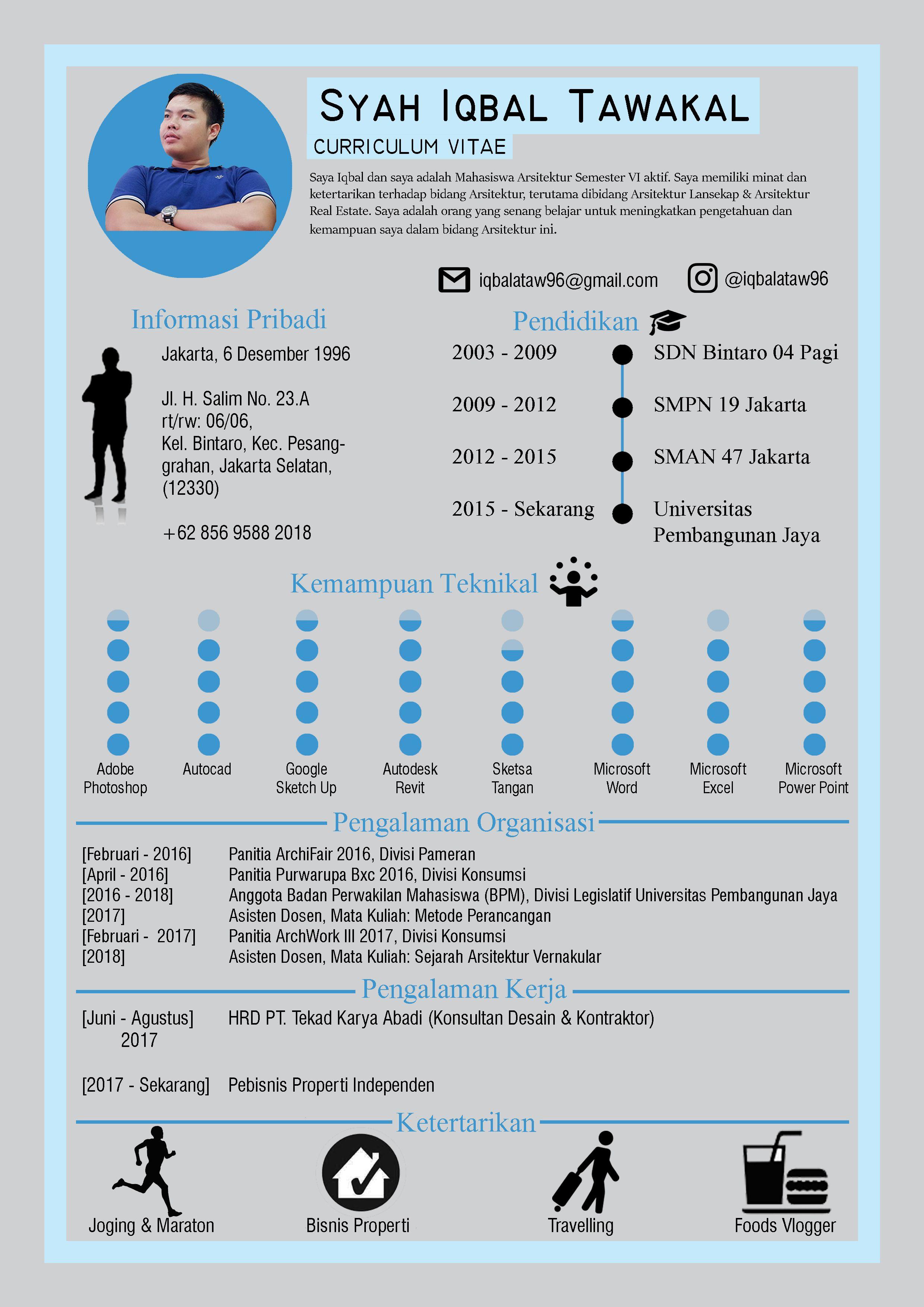 Indonesia Curriculum Vitae About Me Pinterest Curriculum And