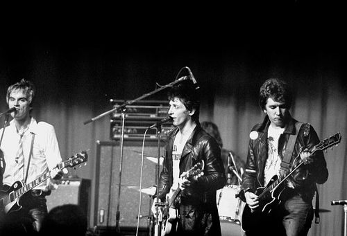 The Heartbreakers with Steve Jones and Paul Cook, October 1977 (c) Bristol Archive Records