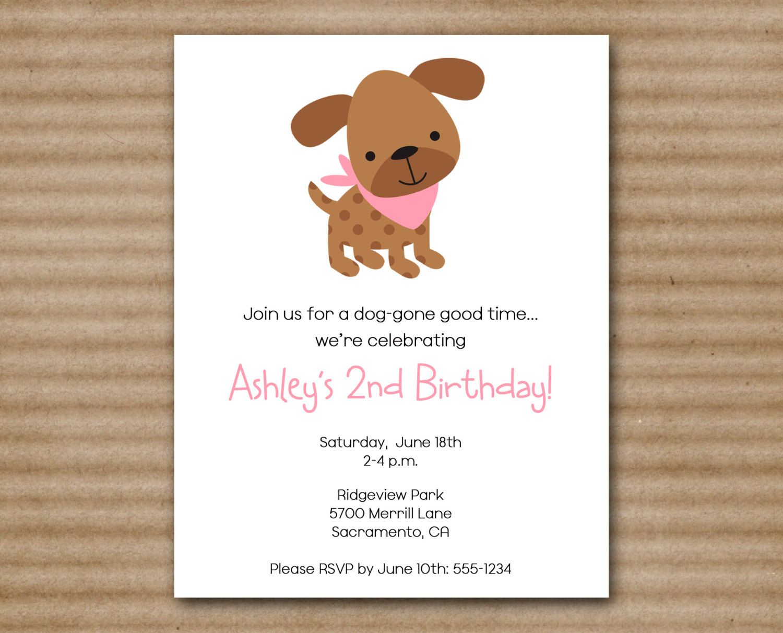 Puppy Party Invitation, Puppy Invitation, Puppy Birthday Invitation ...