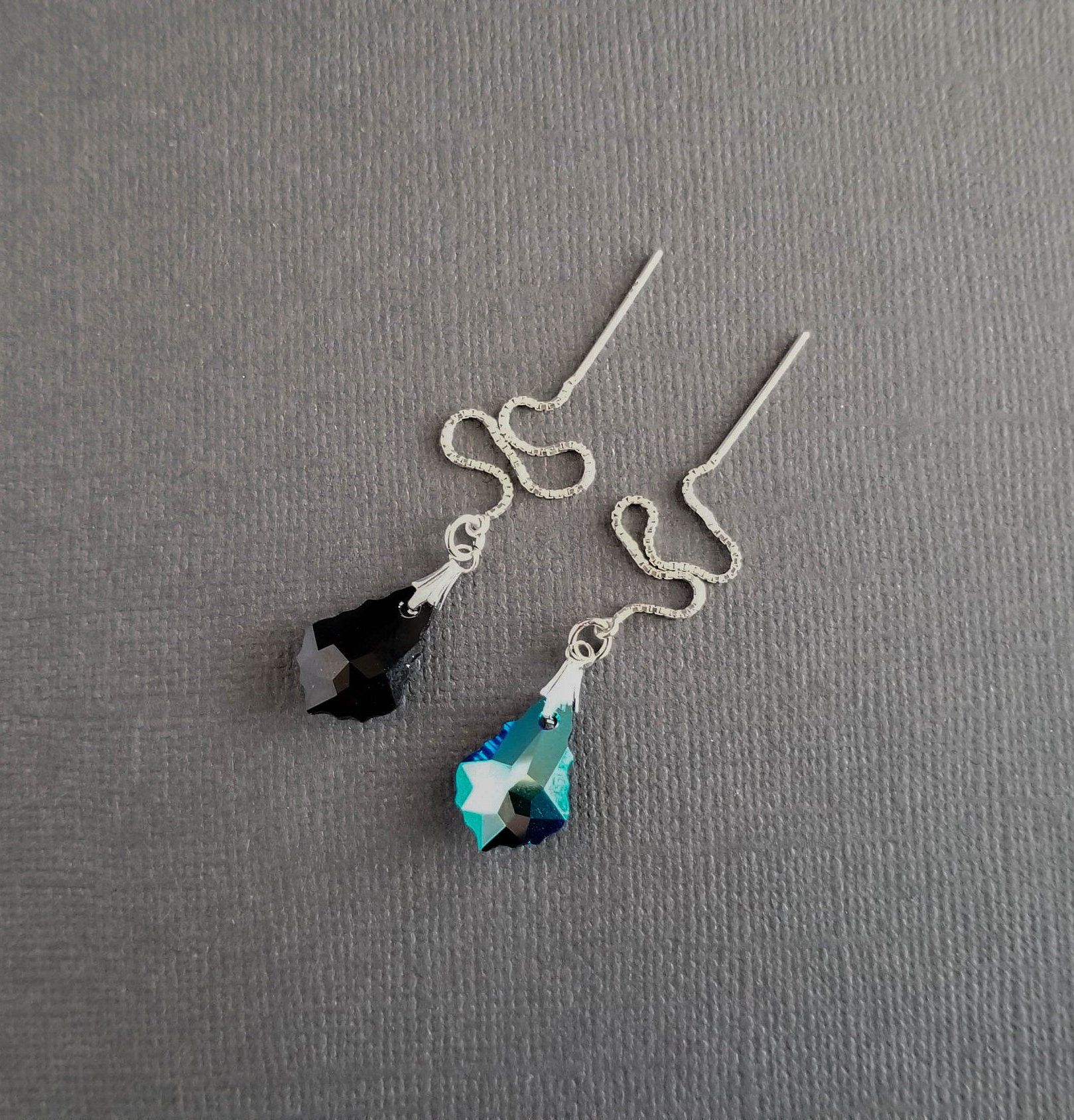 Double sided reversible gemstone crystal necklace 2 necklaces in one!