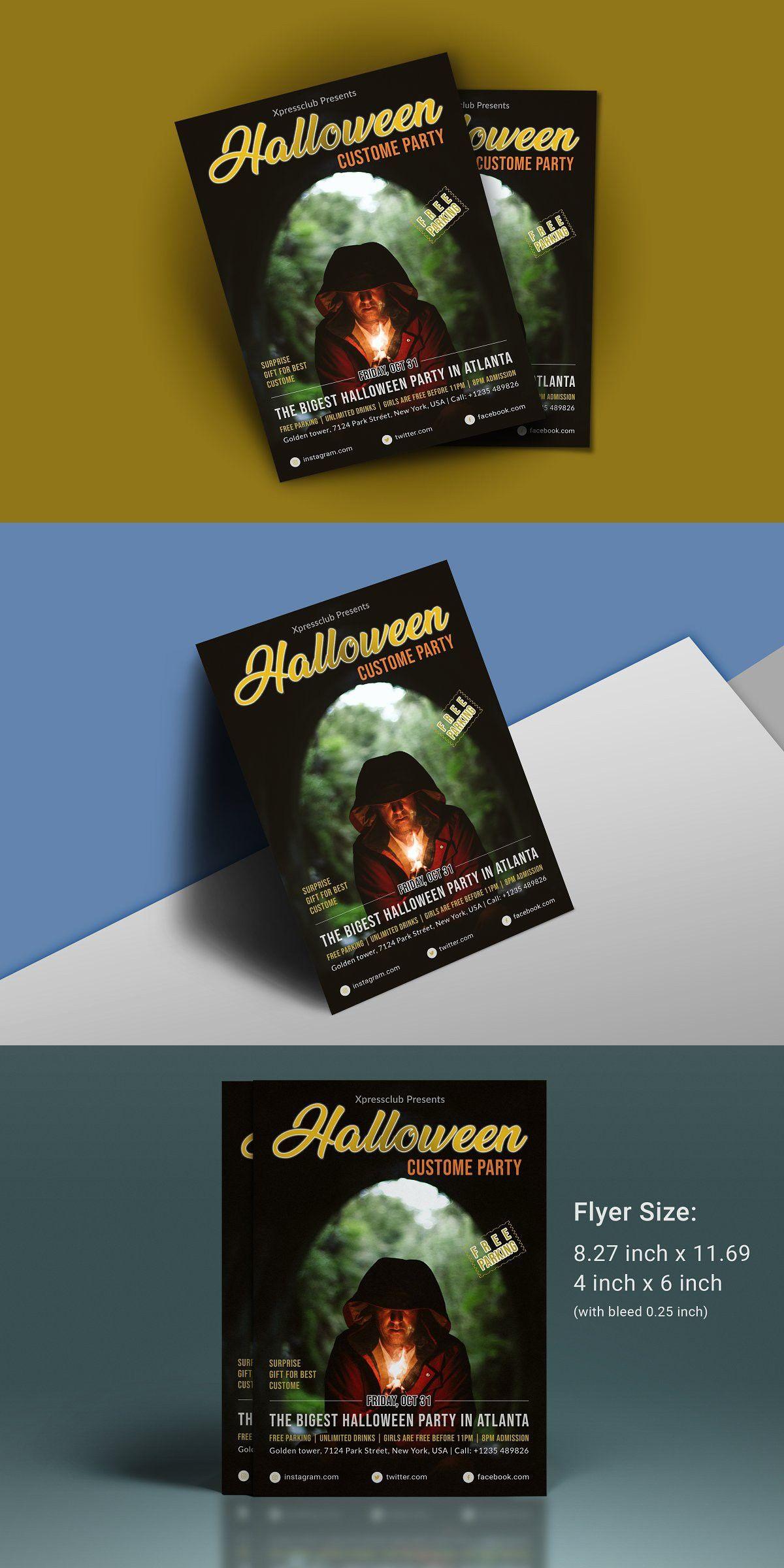 Halloween Flyer in 2020 Halloween party flyer, Flyer