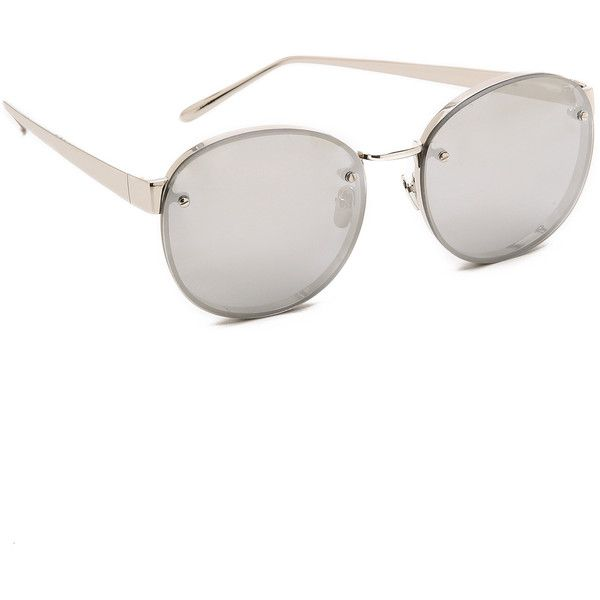 round sunglasses - Metallic Linda Farrow Nbo9AQEPOl