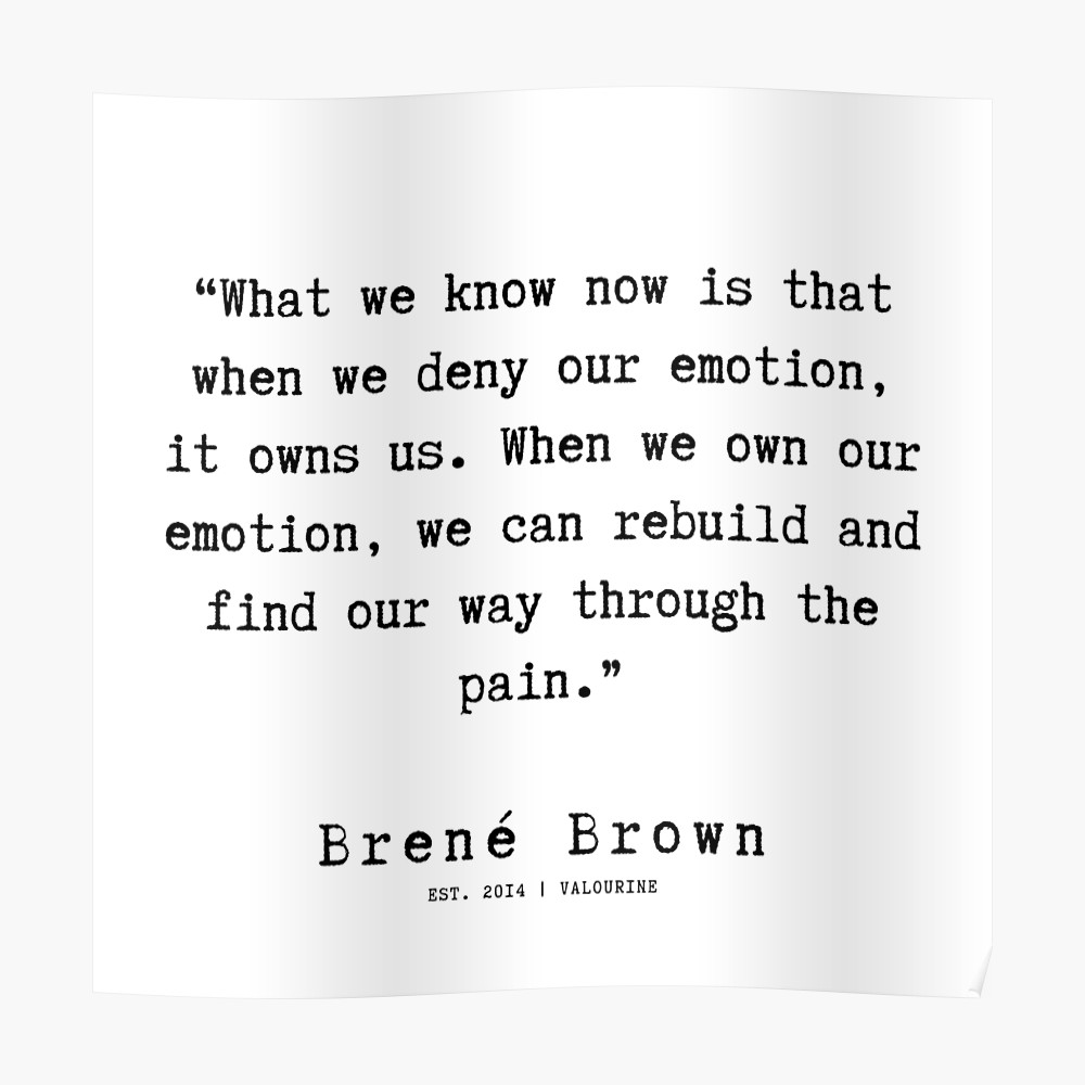 66 |190911 | Brene  Brown Quote  | Poster by valourine