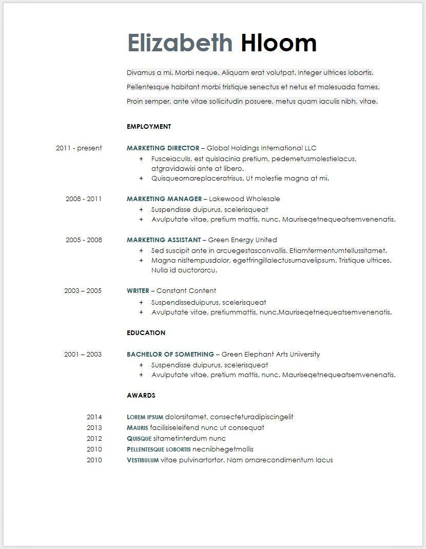 45 Free Modern Resume Cv Templates Minimalist Simple Clean Design Resume Template Word Downloadable Resume Template Cv Template