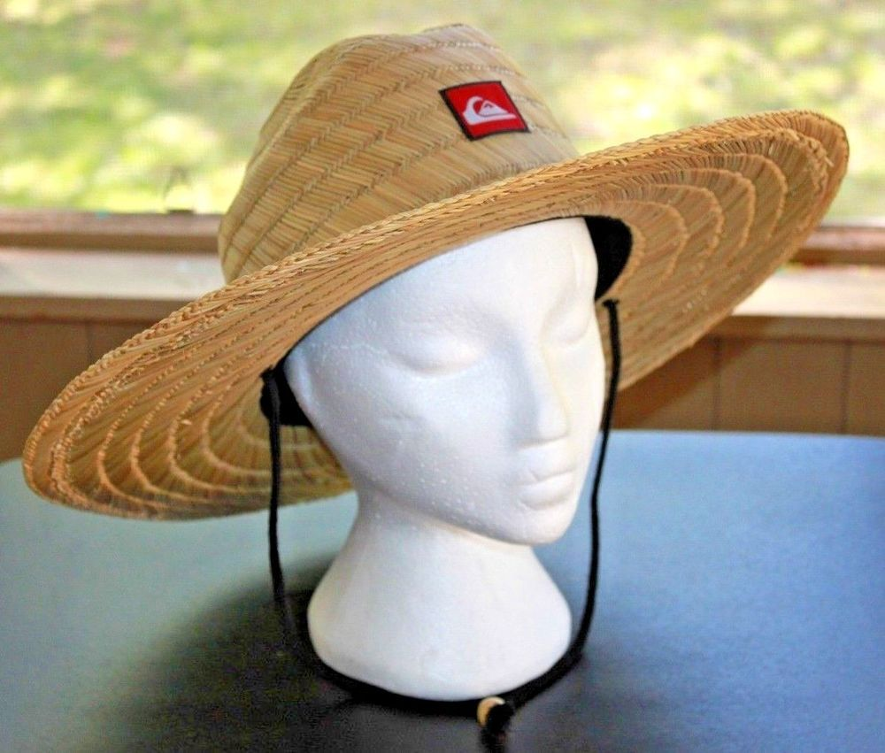6e4882428 Quiksilver Men's Pierside Straw Sun Hat Natural One Size Fits Most  Lifeguard #Quiksilver