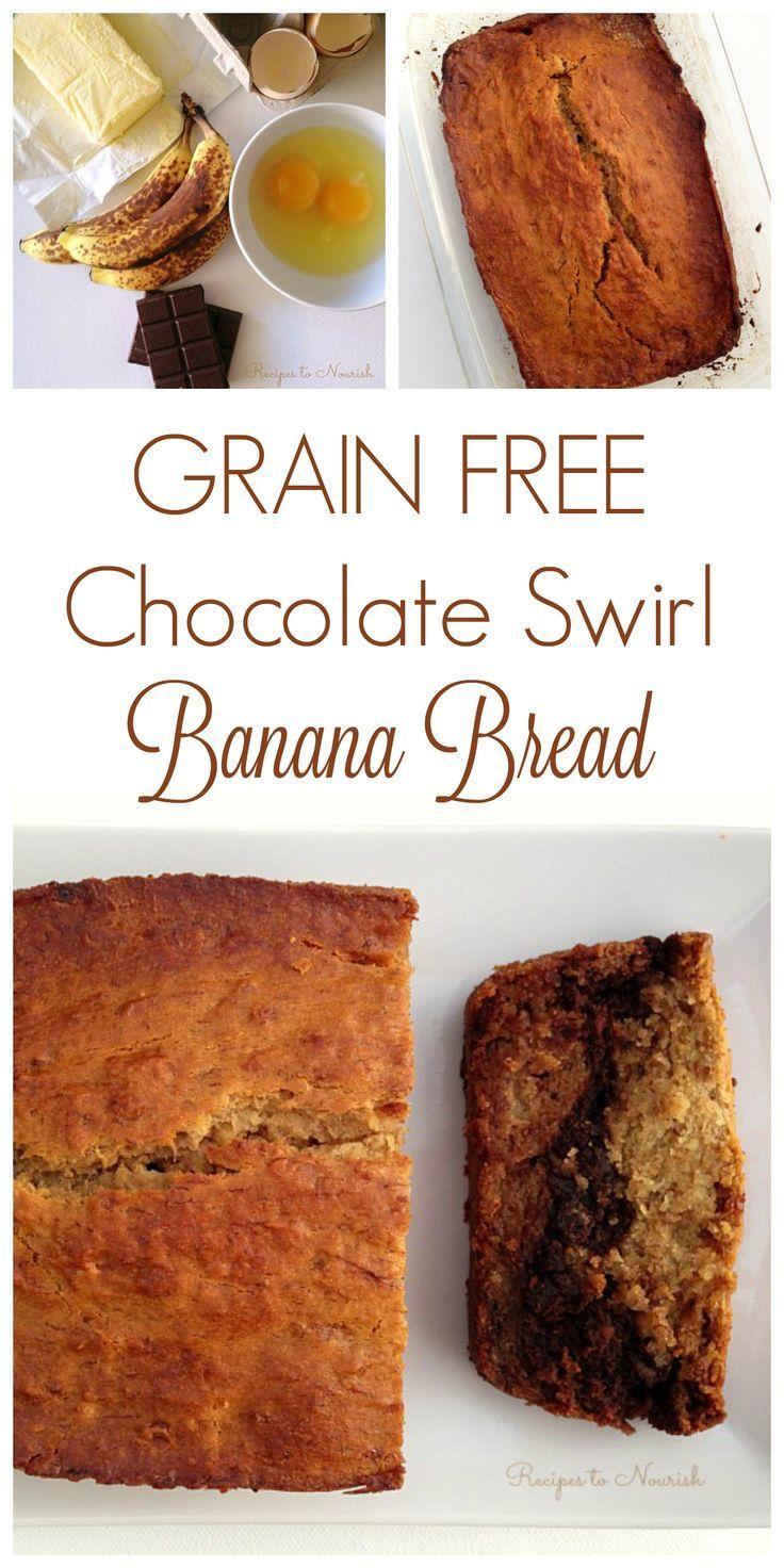 Chocolate swirl banana bread grain free recipe melted chocolate swirl banana bread grain free real food recipesquick forumfinder Image collections