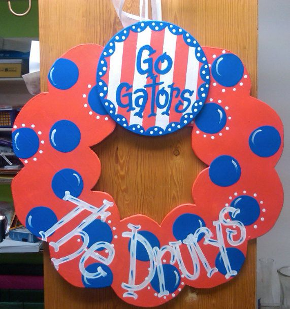 Go Gators Wreath by juliejg24 on Etsy, $35.00