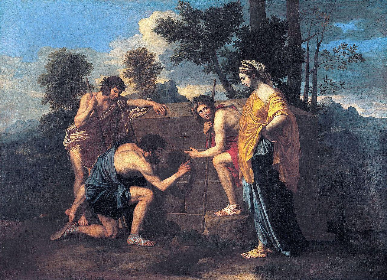 """Nicolas Poussin   Et in Arcadia Ego, Louvre """"Et In Arcadia Ego – """"Even in Arcadia I exist"""""""