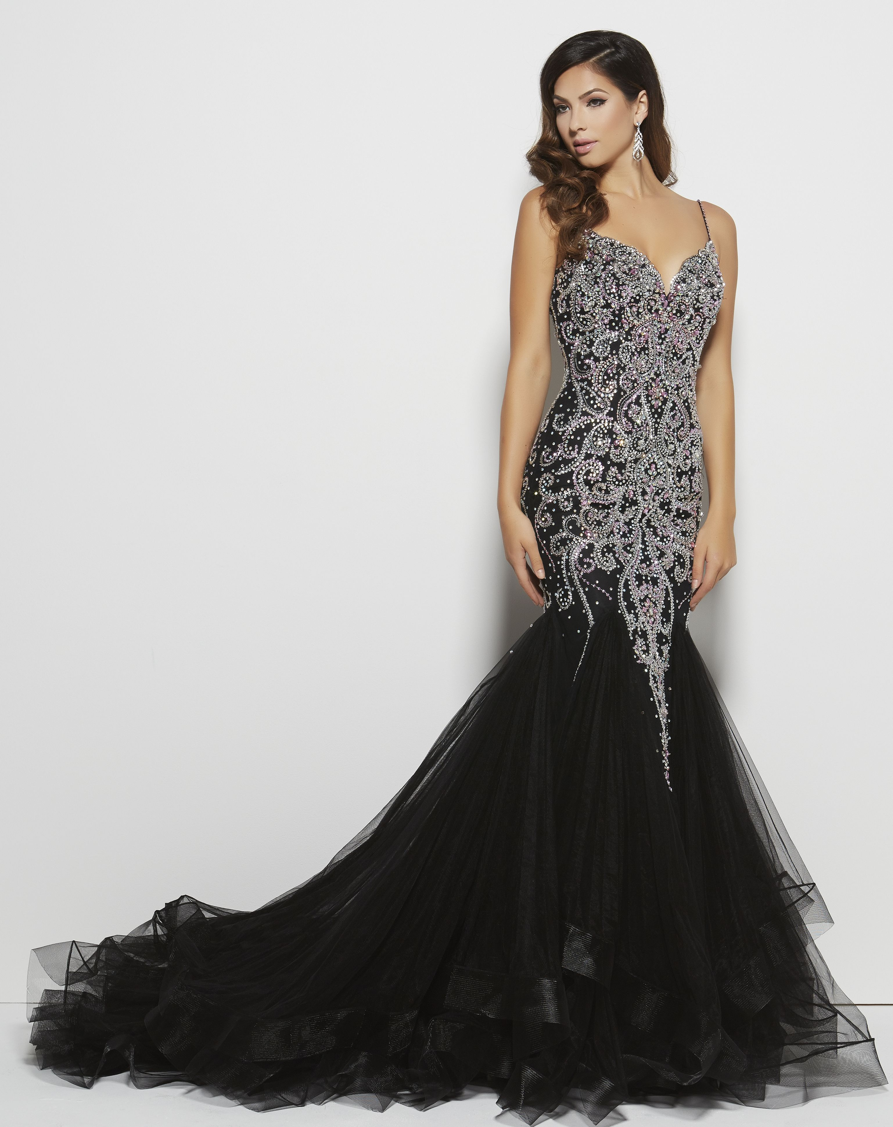 1eb149d7eba This Mac Duggal dress is pure luxury! Imagine walking into prom in this  dress! Head will be turning! Style 82517M Black