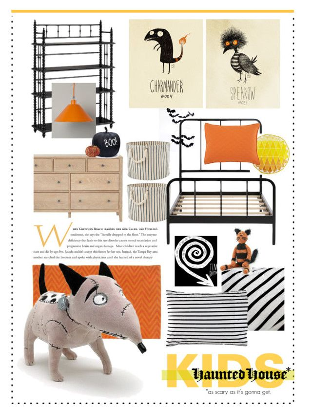 """""""Frankenweenie."""" by s-elle ❤ liked on Polyvore featuring interior, interiors, interior design, home, home decor, interior decorating, Burton, Pier 1 Imports, kids and timburton"""