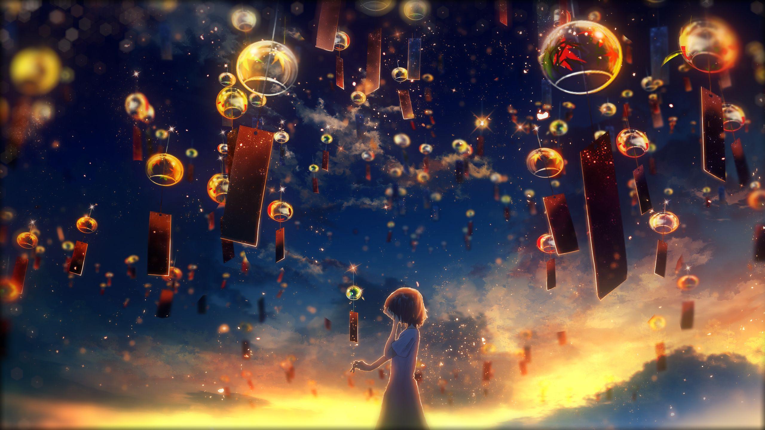 Оч красиво🧡 Pemandangan anime, Gadis animasi, Animasi