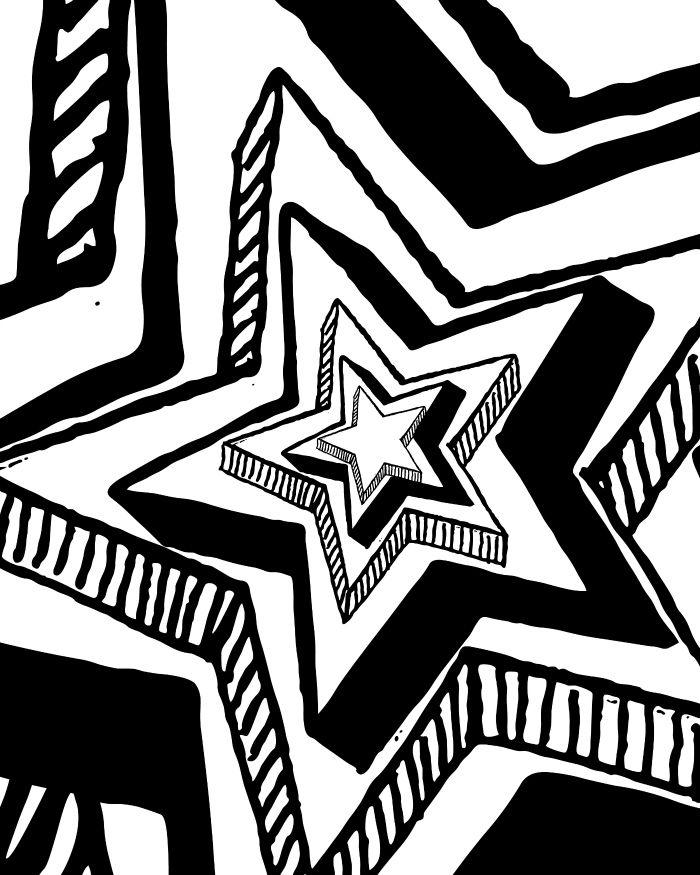 Big Star Patriotic Coloring Page Patriotic Fun Adult coloring