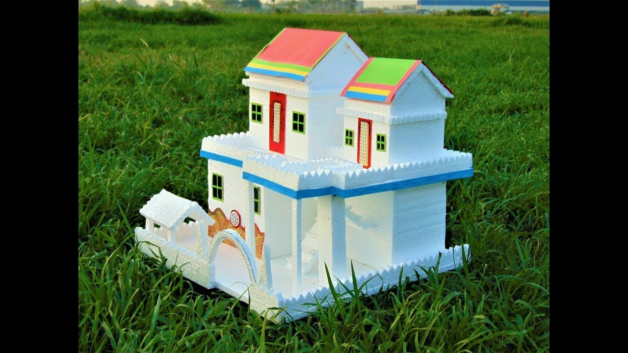 DIY || Thermocol House model - How To Make Thermocol House