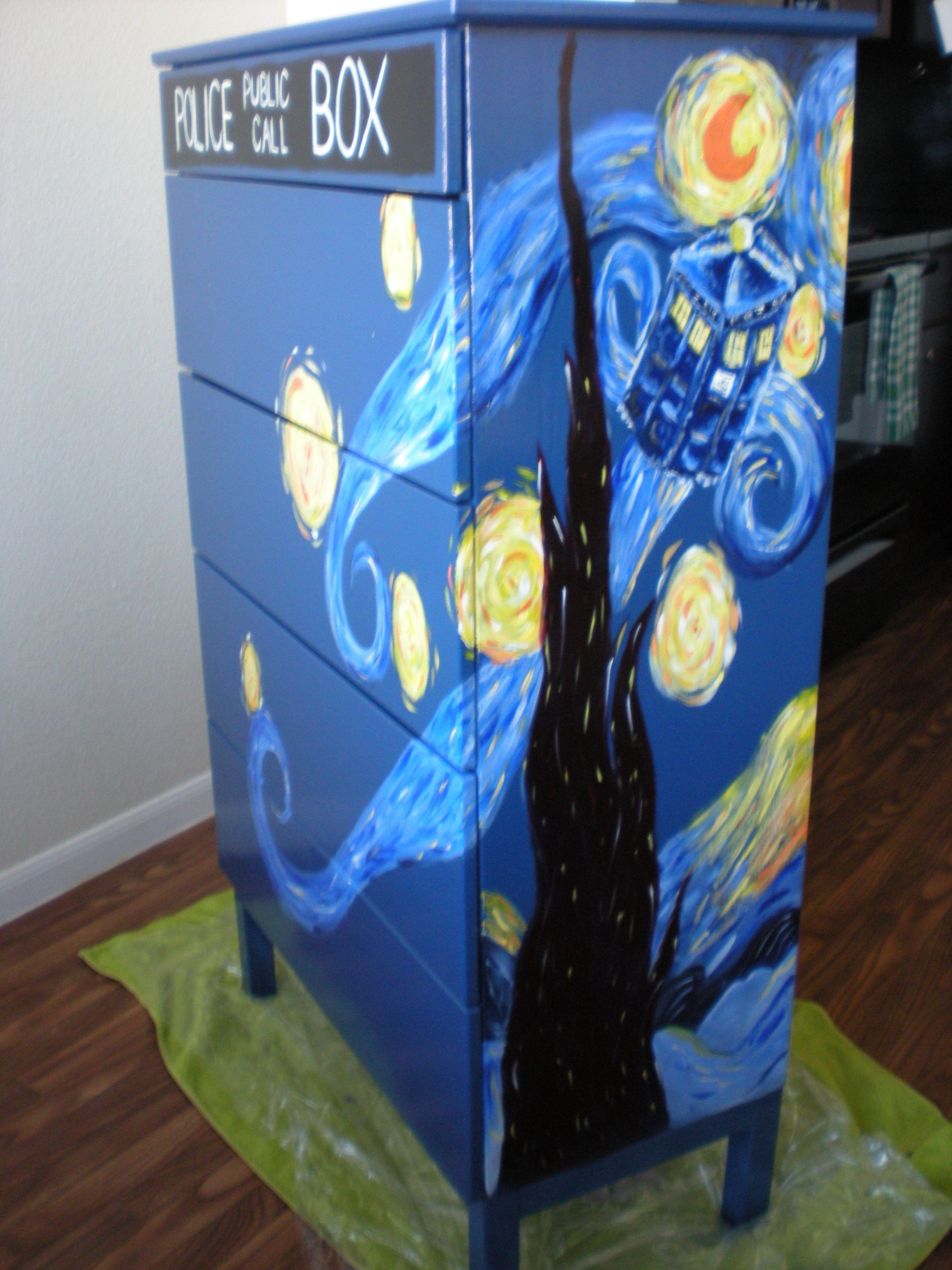 Tardis dresser whovian wohnideen - Tardis selber bauen ...