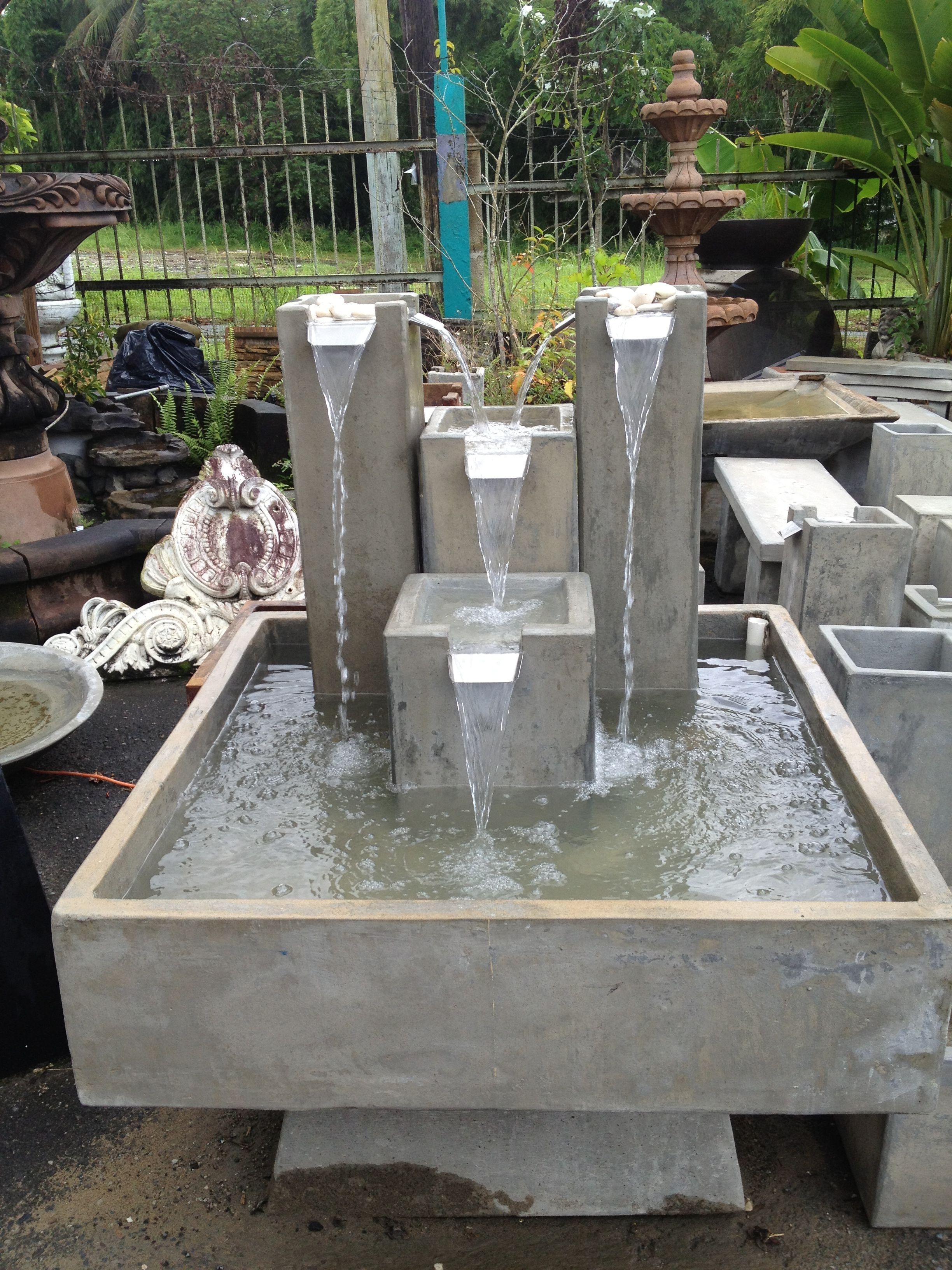 Fuente para jardines cascadas modernas pinterest water features fountain and water - Fuentes de jardin modernas ...