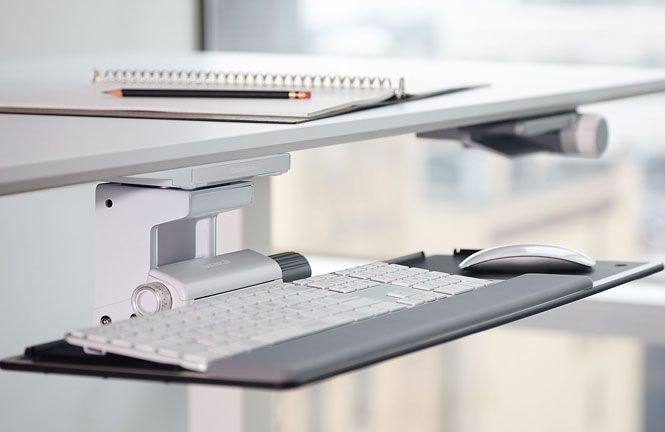 Keyboard Tray And Mouse Platform Ergonomic Support From Humanscale